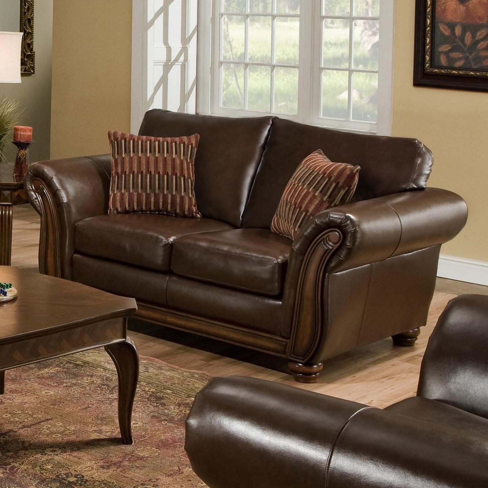United Furniture Industries 8101 Traditional Loveseat With