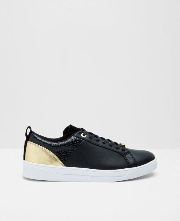 875d7b88e69537 Metallic trim sneakers Ted Baker Sneakers