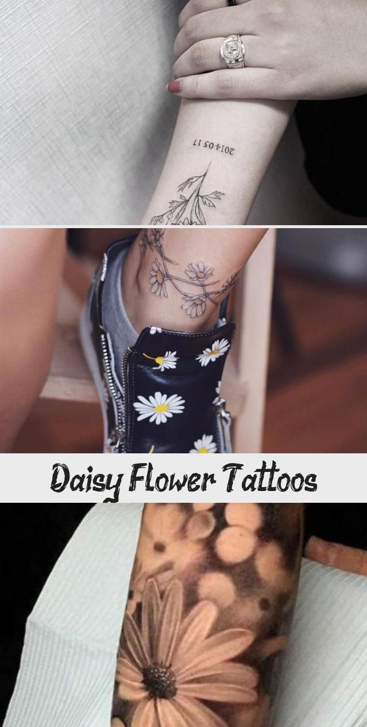 Abstract Daisy Tattoo: Daisy Flower Tattoo Meaning And Designs #Daisy #Flower