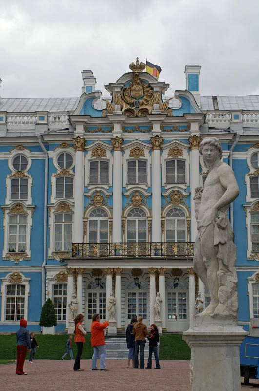 Catherine Palace (1752) - The Paris-born architect Bartolomeo Francesco Rastrelli built the palace in the form of its known today.