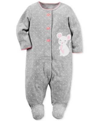 74902b659 Carter s Dot-Print Mouse Footed Terry Coverall