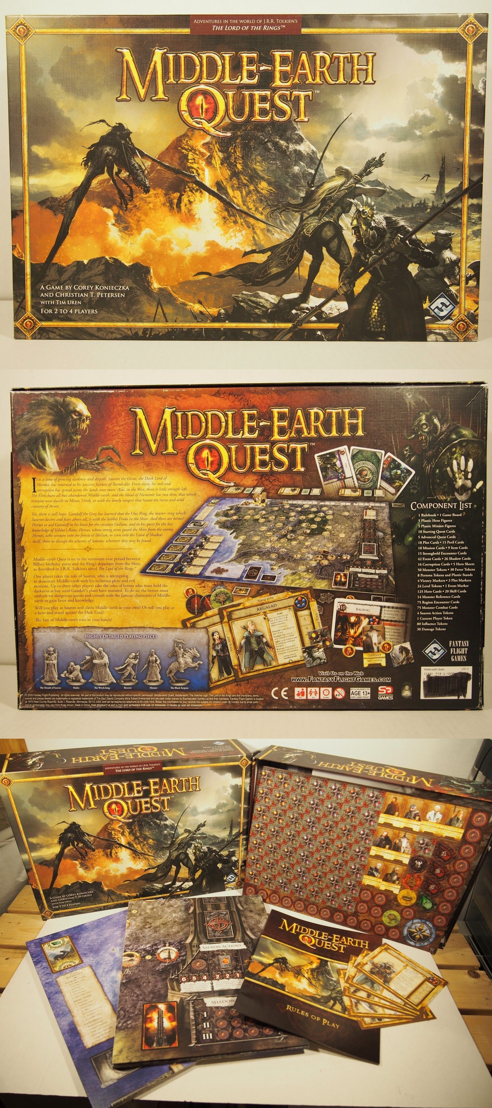Contemporary Manufacture 180349 Middle Earth Quest Fantasy Flight