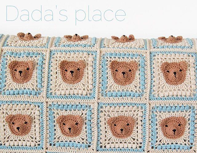 Vintage Crochet Teddy Bear Baby Blanket Pattern Crochet Granny
