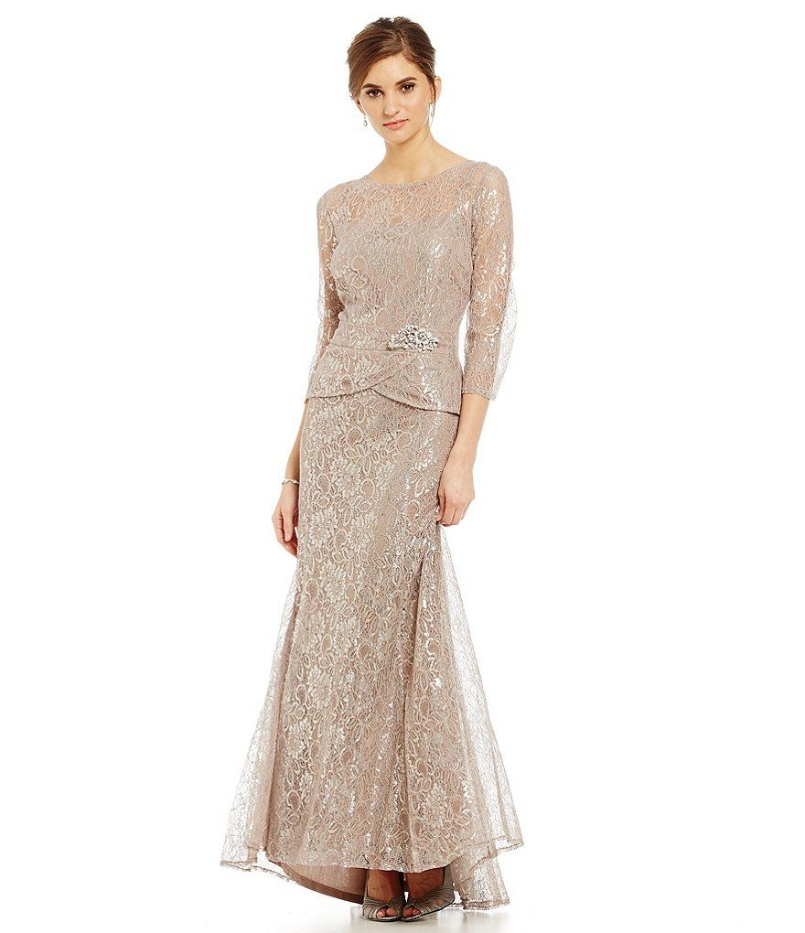 Emma street metallic lace mock piece gown martha gowns