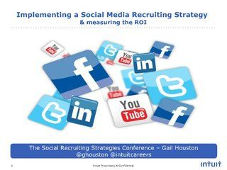Implementing A Social Media Recruiting Strategy And Measuring The Roi Intuitcareers By Intuit Car Social Media Recruiting Recruitment Learning And Development