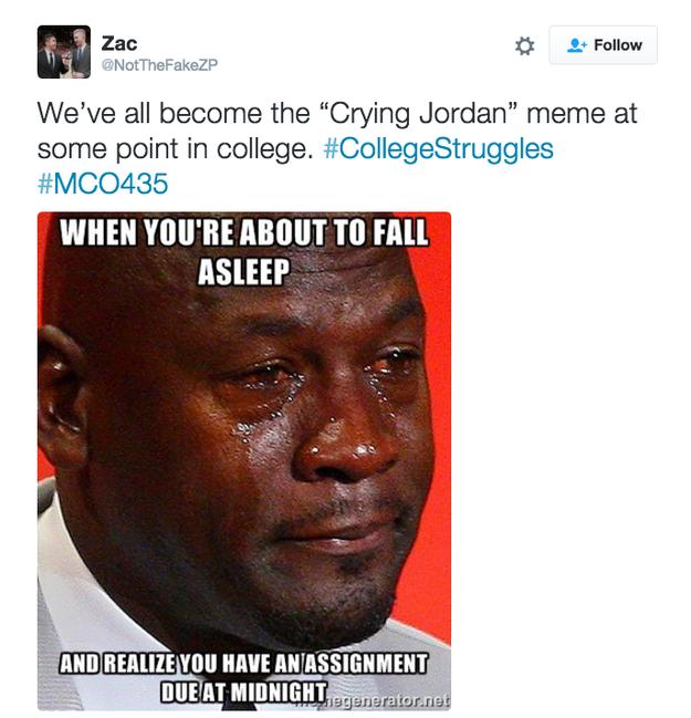 Michael Jordan Apparently Thinks The Meme Of His Crying Face Is Funny Crying Face Michael Jordan Meme Jordan Meme
