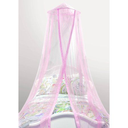 Photo of Main Supports Kids Satin Trim Bed Canopy – Walmart.com – Free Shipping For …