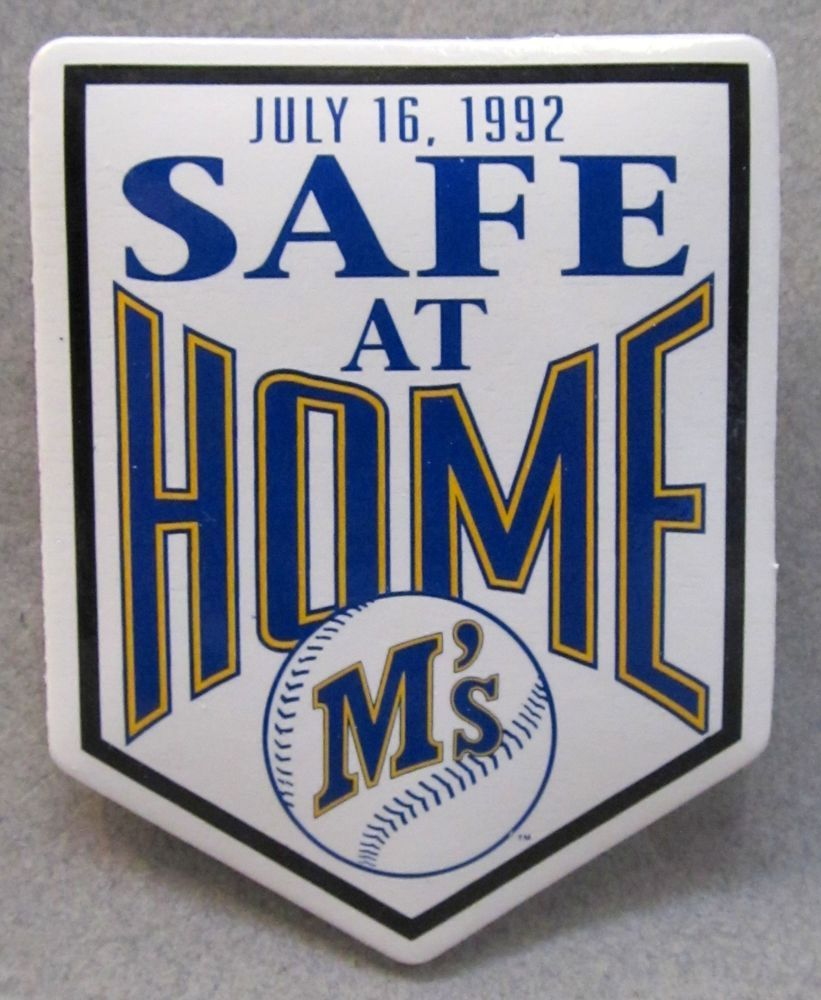 rare july 1992 seattle mariners safe at home pinback signifying new owners mint. from $21.99