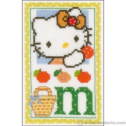 Hello kitty lettre m