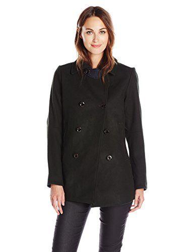 G-Star Raw Women's Wool Pea Coat, Green - http://www.womansindex ...