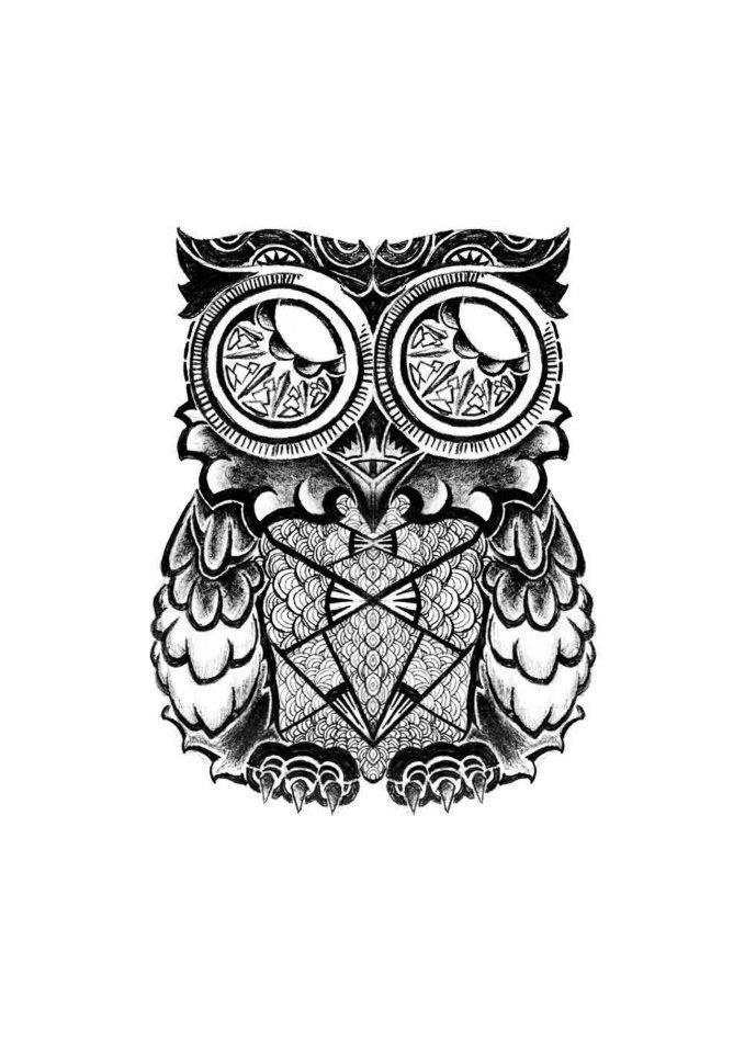 Maori Owl Tattoo By Asilkandemirer On Deviantart Owl Tattoo Tattoos Deviantart Tattoo