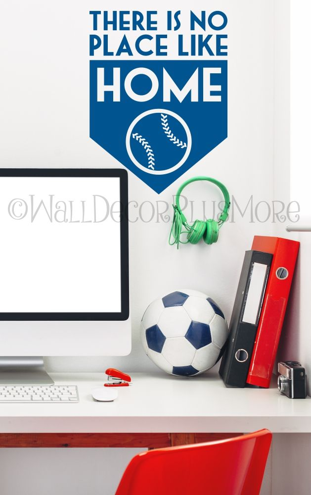Baseball Wall Art there is no place like home baseball wall art letters decals vinyl
