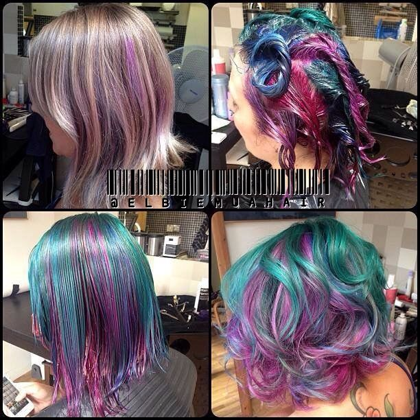 Rainbow Hair Using Directions Colours Pinwheel Hair Color Rainbow Hair Beautiful Hair Color