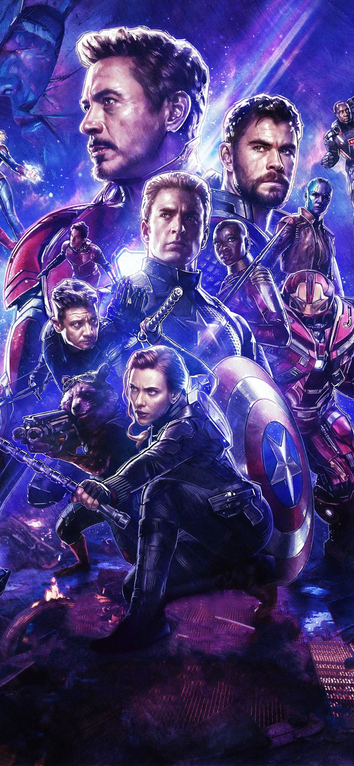 Avengers Endgame Wallpaper 4k Iphone In 2020 Superhelden Held