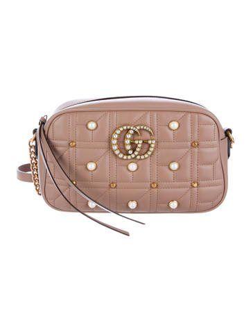 dd868f707dab Gucci 2017 GG Marmont Embellished Crossbody Bag #Gucci #marmont ...