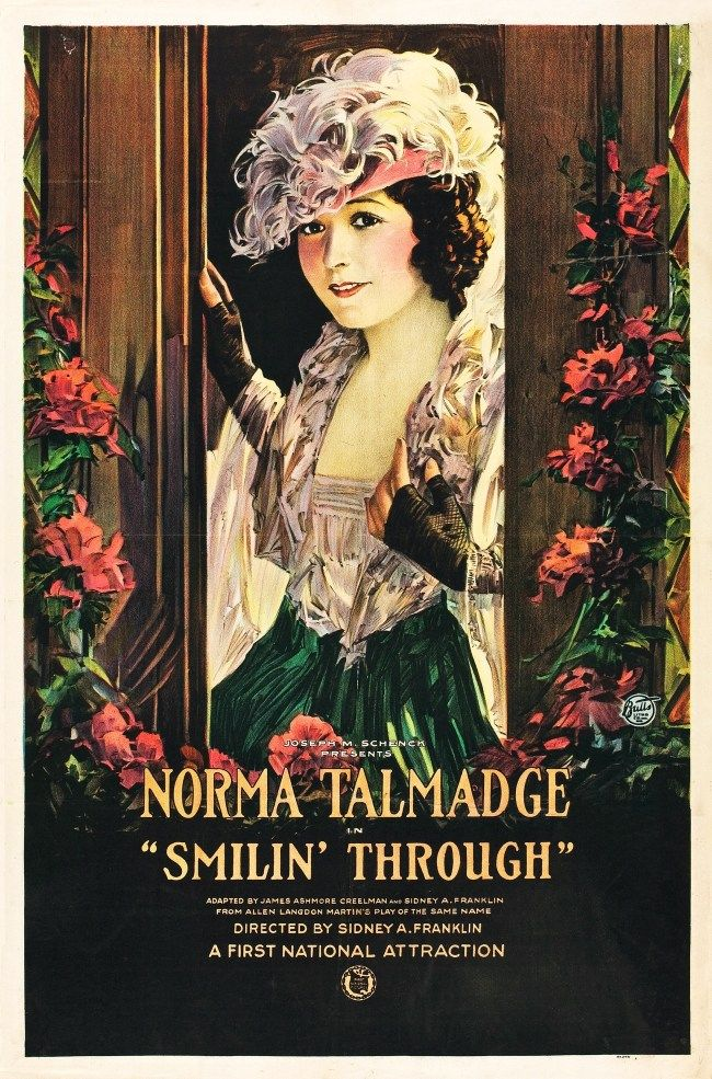 Poster for the 1922 film, Smilin' Through