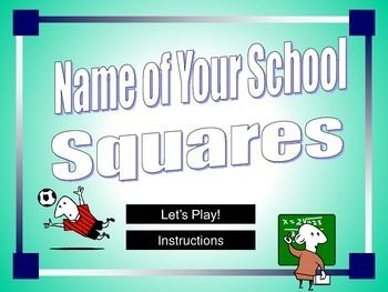 squares powerpoint game template | student-centered resources, Powerpoint templates
