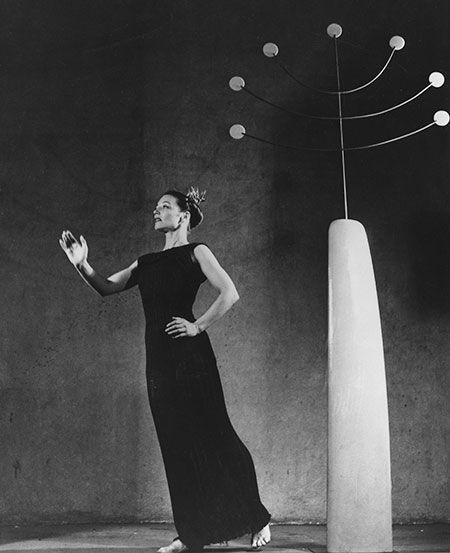 ISAMU NOGUCHI & MARTHA GRAHAM, Dark Meadow, 1946. Dark Meadow was a ground breaking modern dance production by Martha Graham, for which Noguchi designed abstract scenery and props. Courtesy of the Isamu Noguchi Foundation and Garden Museum, New York. / Sotheby's