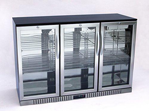 54 Wide 3 Door Stainless Steel Back Bar Beverage Cooler With