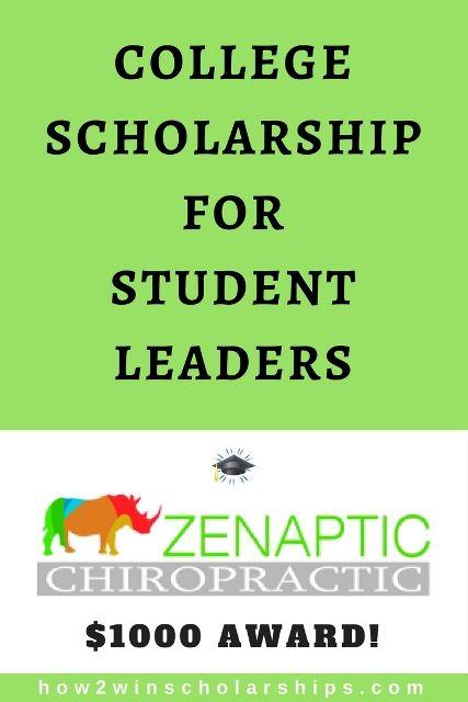 Zenaptic Chiropractic Scholarship For Student Leaders