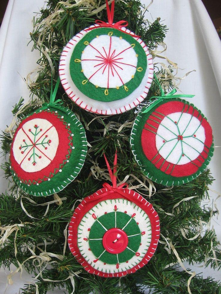 30 Beautiful Felt Christmas Decorations Ideas Christmas ornament