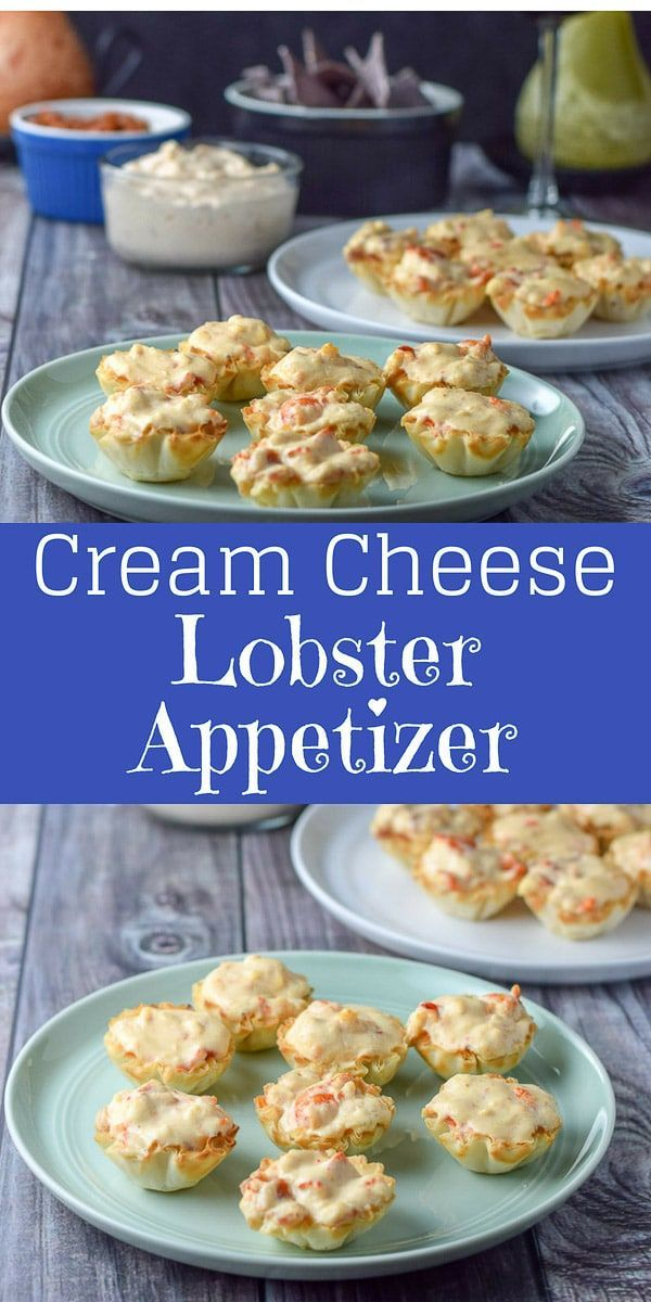 Photo of Lobster Appetizer – Cream Cheese Lobster Phyllo cups – Dishes Delish