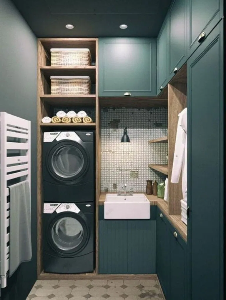 Photo of Tiny Laundry Room? Try These 10 Creative Cabinet Ideas