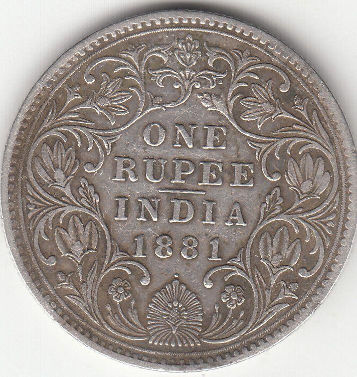 1881 British India Queen Victoria Rupee Silver Coin With Dot Rare Silver Coins Rare Coins Coins