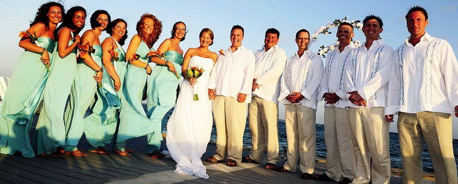 Beach Wedding Attire Linen Shirts Pants Dresses For Men And Women ...