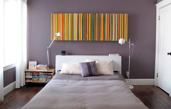 Get The Look Decor California Modern Grey Bedroom With Pop Of Color Purple Bedroom Walls Grey Bedroom Decor