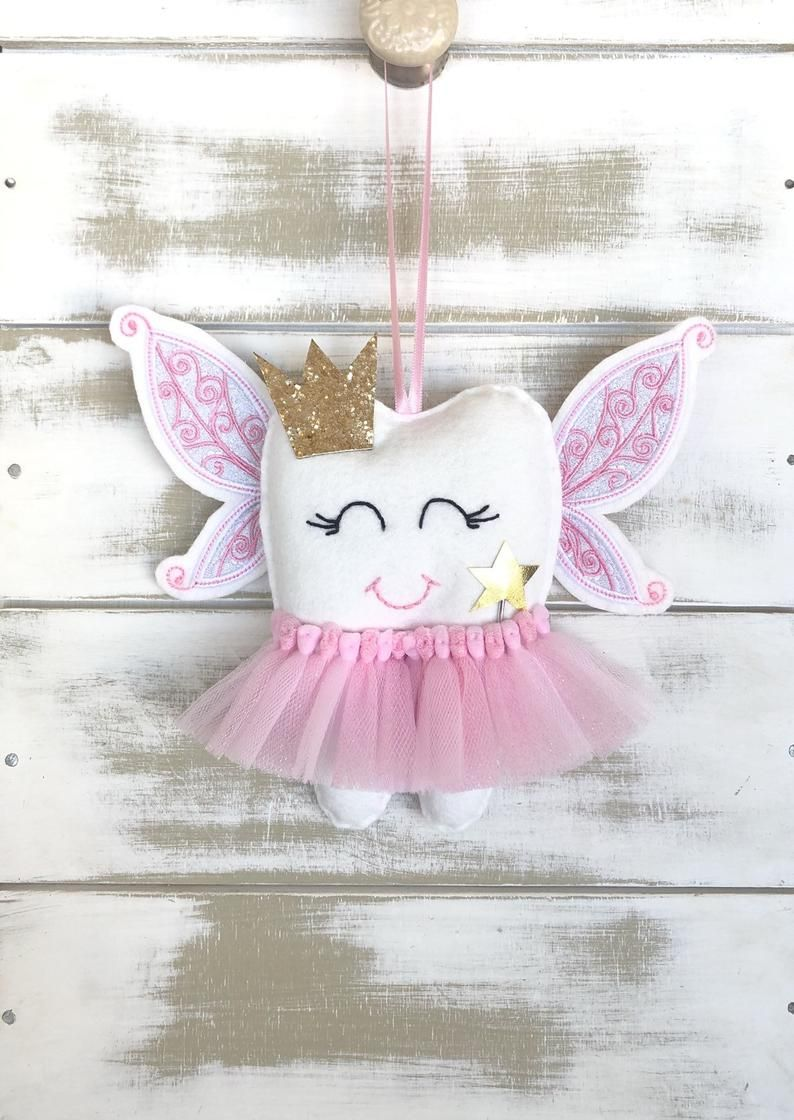 New For 2019 Personalized Childrens Angel Fairy Wings Tutu Tooth Fairy Pillow With Glitter Crown And Wand Hada De Los Dientes Hadas Etsy