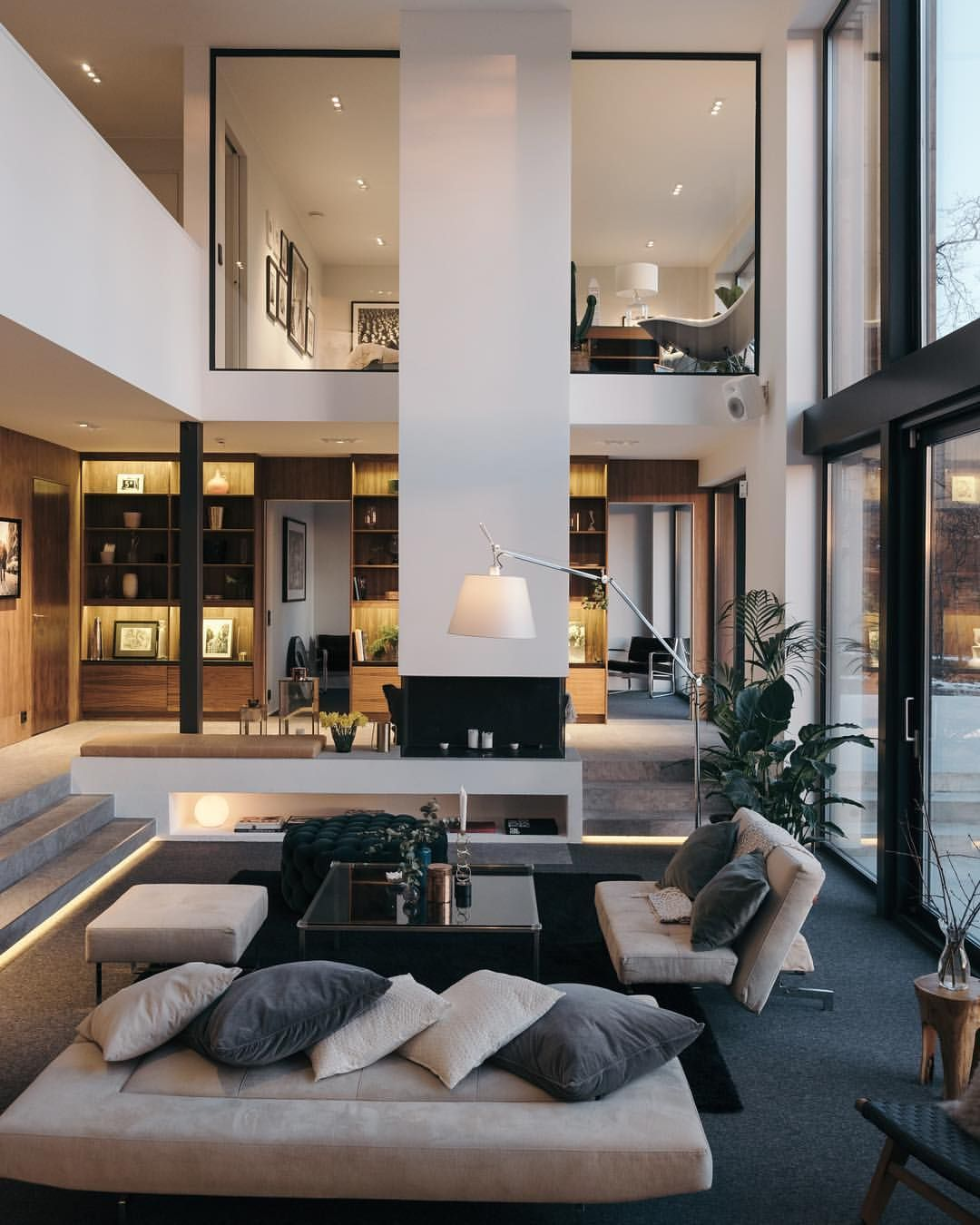 Luxury House Interior Living Room: Haus Innenarchitektur