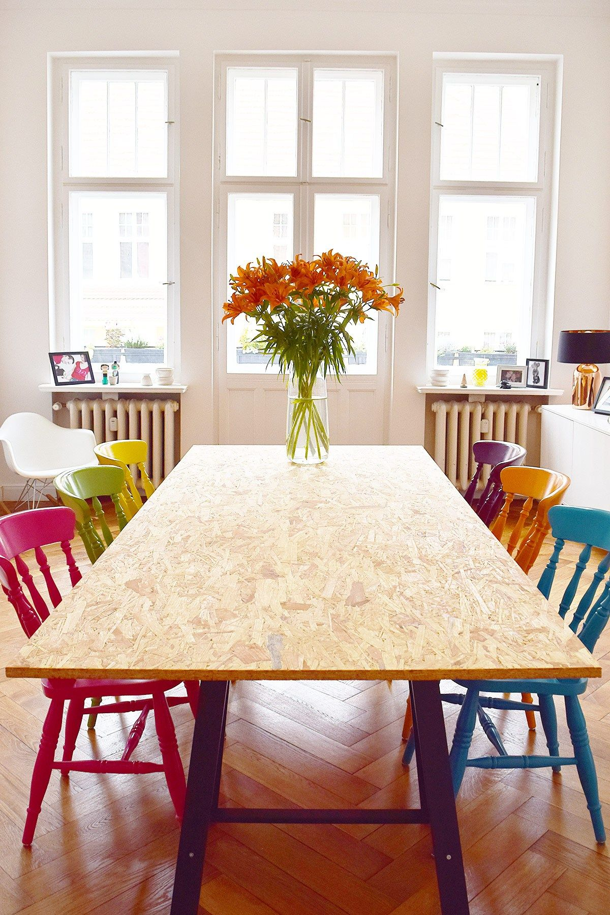 Diy Dining Table With Osb Board Little House On The Corner