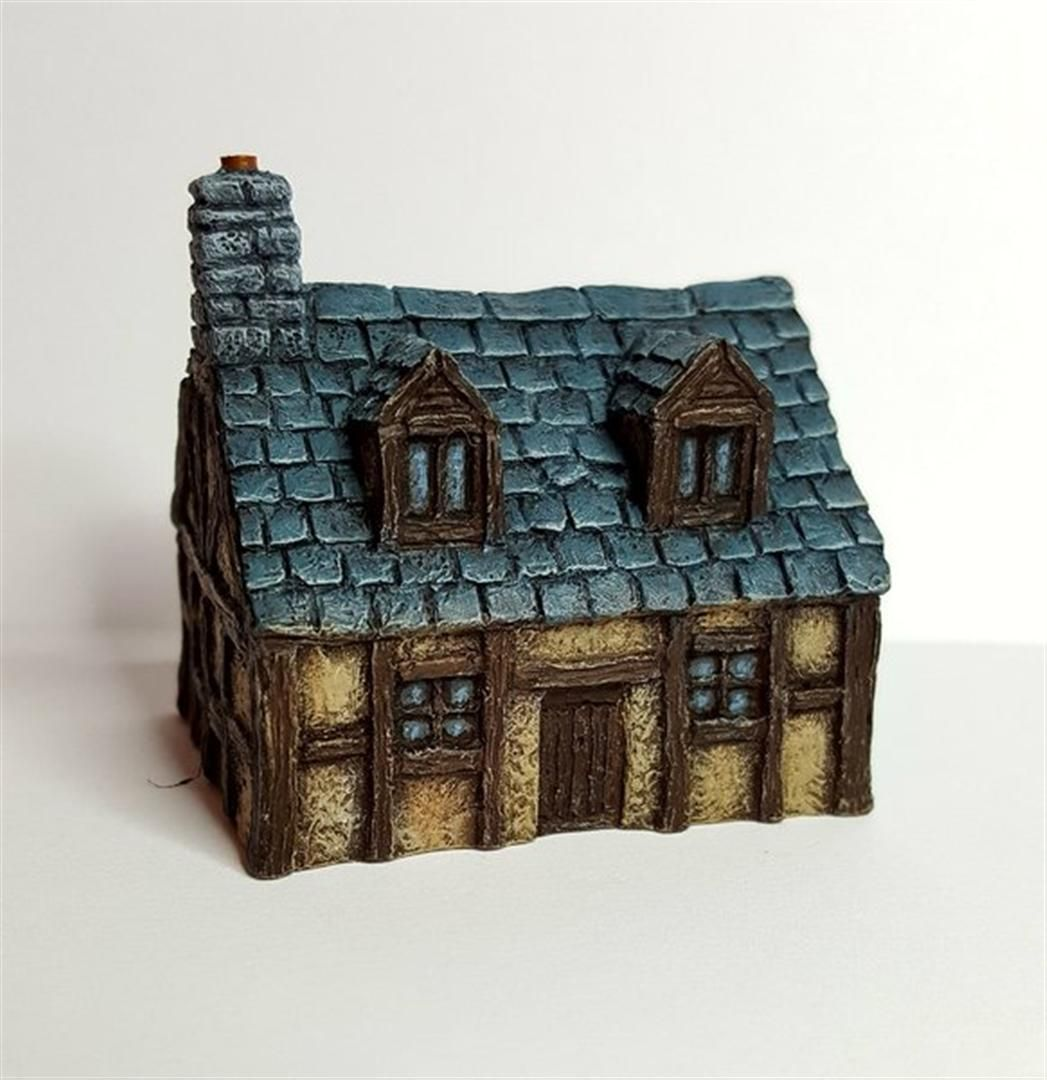 Timber Framed Cottage with Dormer Battle Scale 10mm-15mm scale