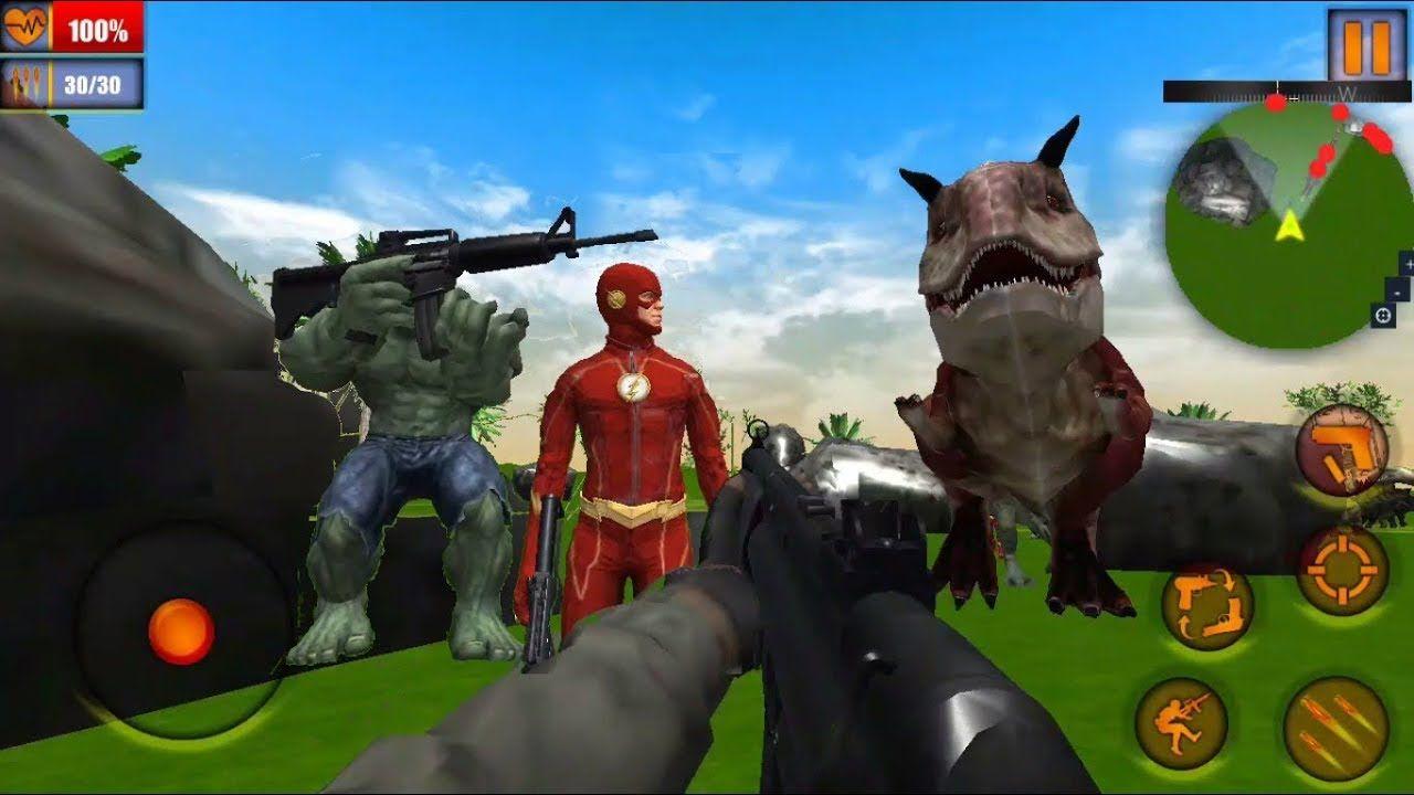 Superhero Dinosaur Hunting Frontier Free Shooting Monster