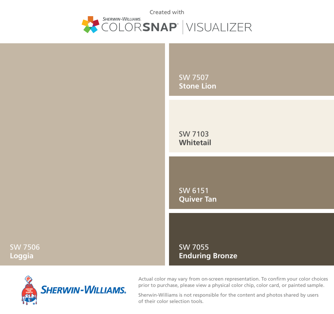 i found these colors with colorsnap visualizer for iphone by sherwin williams loggia - Beste Ausere Hausfarben