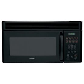 189 Hotpoint 1 5 Cu Ft Over The Range Microwave Black Range Microwave Over The Range Microwaves Microwave