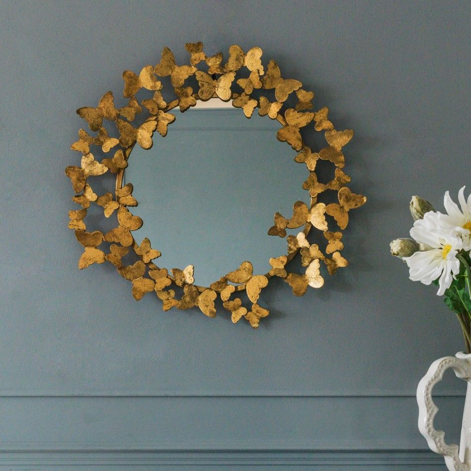 Gold Butterfly Mirror View All Mirrors Mirrors