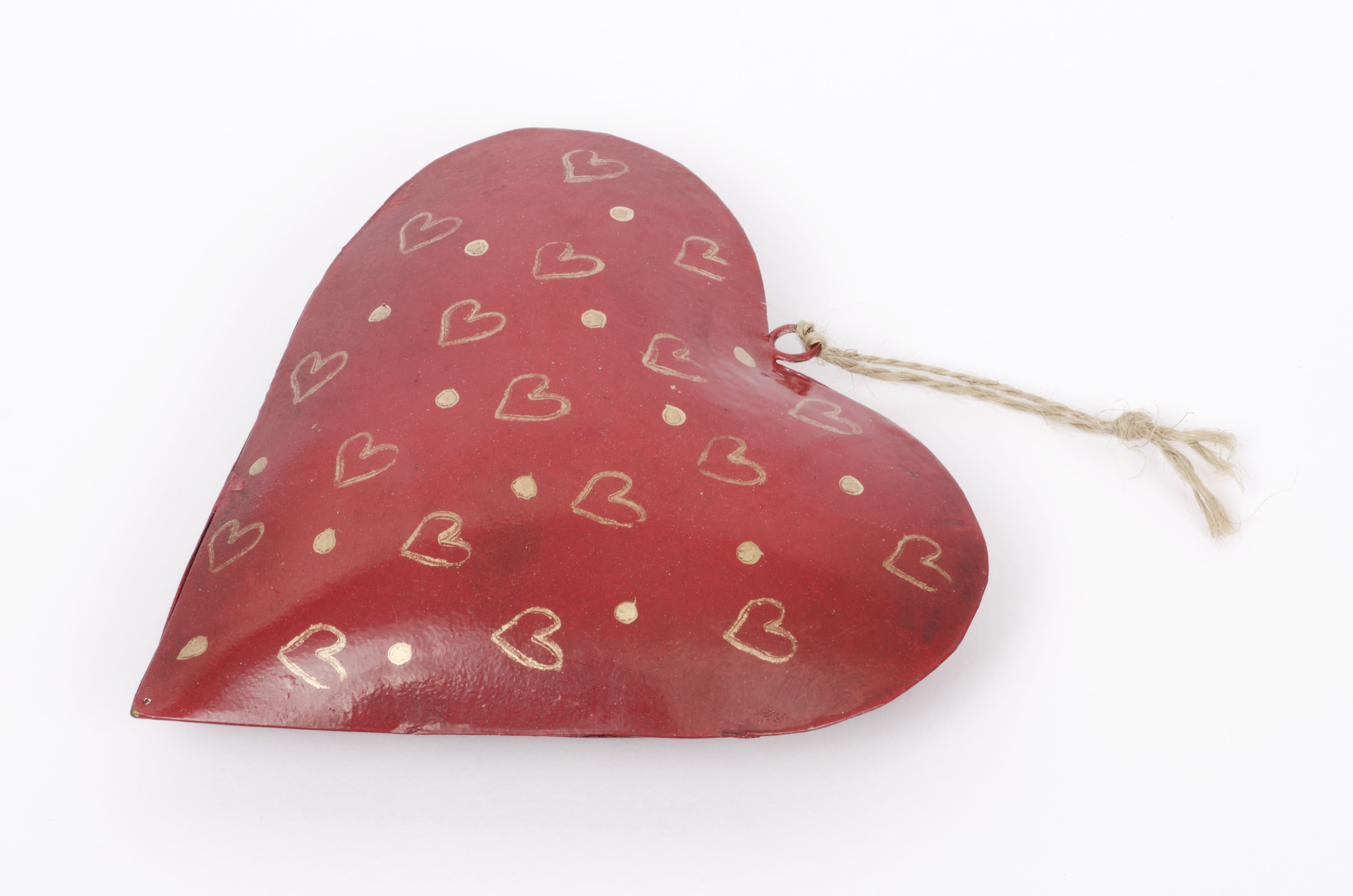 Red Heart With Gold Decoration