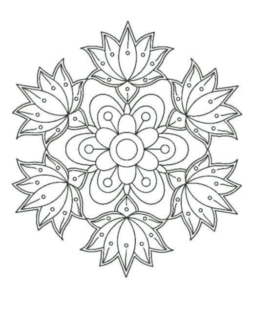 mandala stil malvorlagen  mandala coloring pages