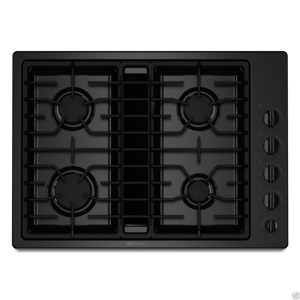 Jennair 30 closeout black gas downdraft cooktop