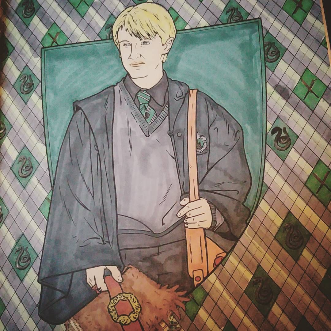 Paige Carter On Instagram Draco Malfoy Harrypottercolouringbook Hp Harrypotte Harry Potter Coloring Book Harry Potter Coloring Pages Harry Potter Colors