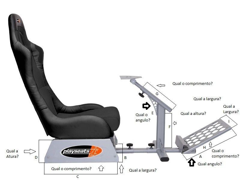Medidas Playseat evolution - Taringa! | Playseat | Consolas