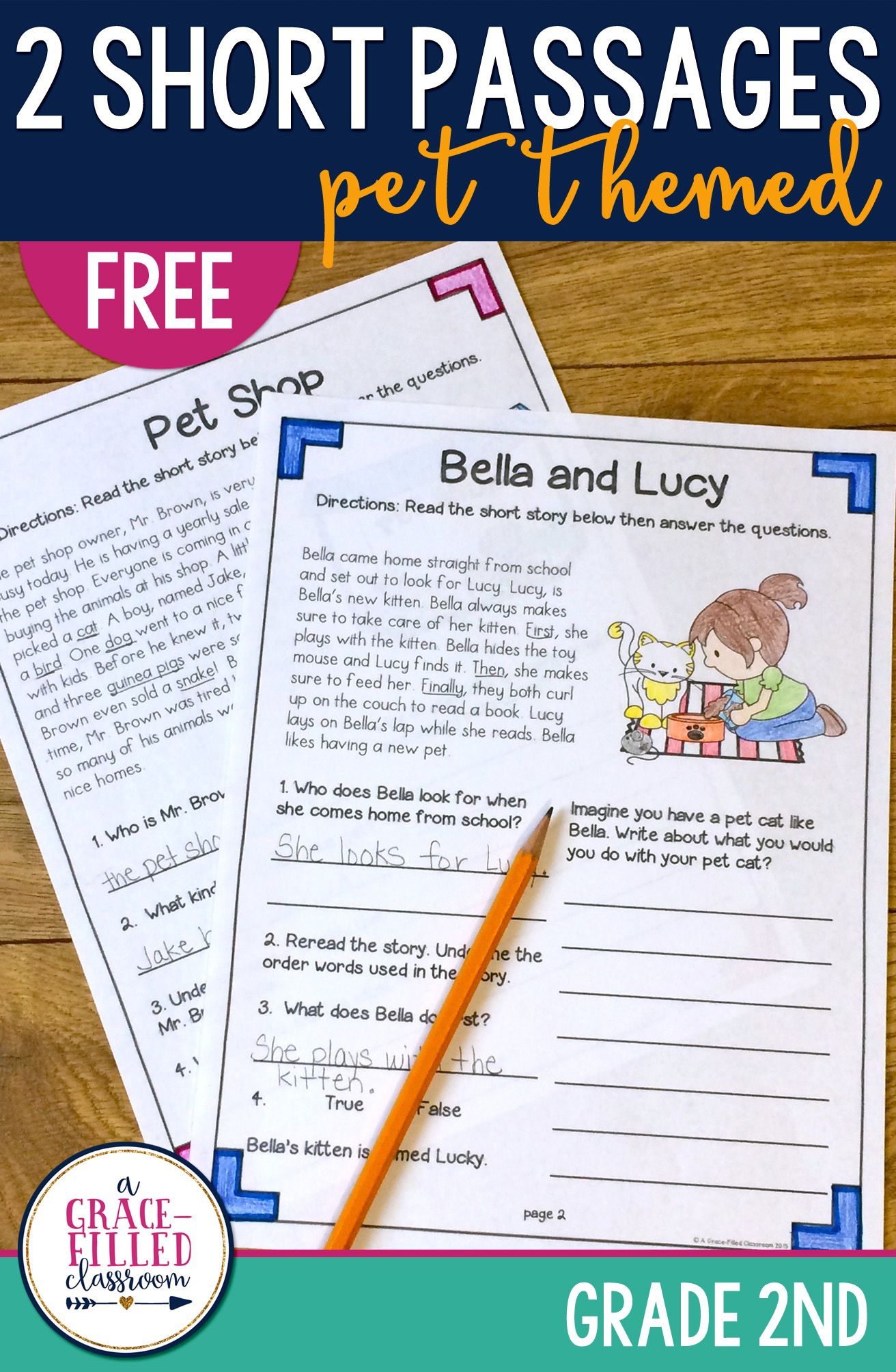 Fiction And Nonfiction Pet Passages Free