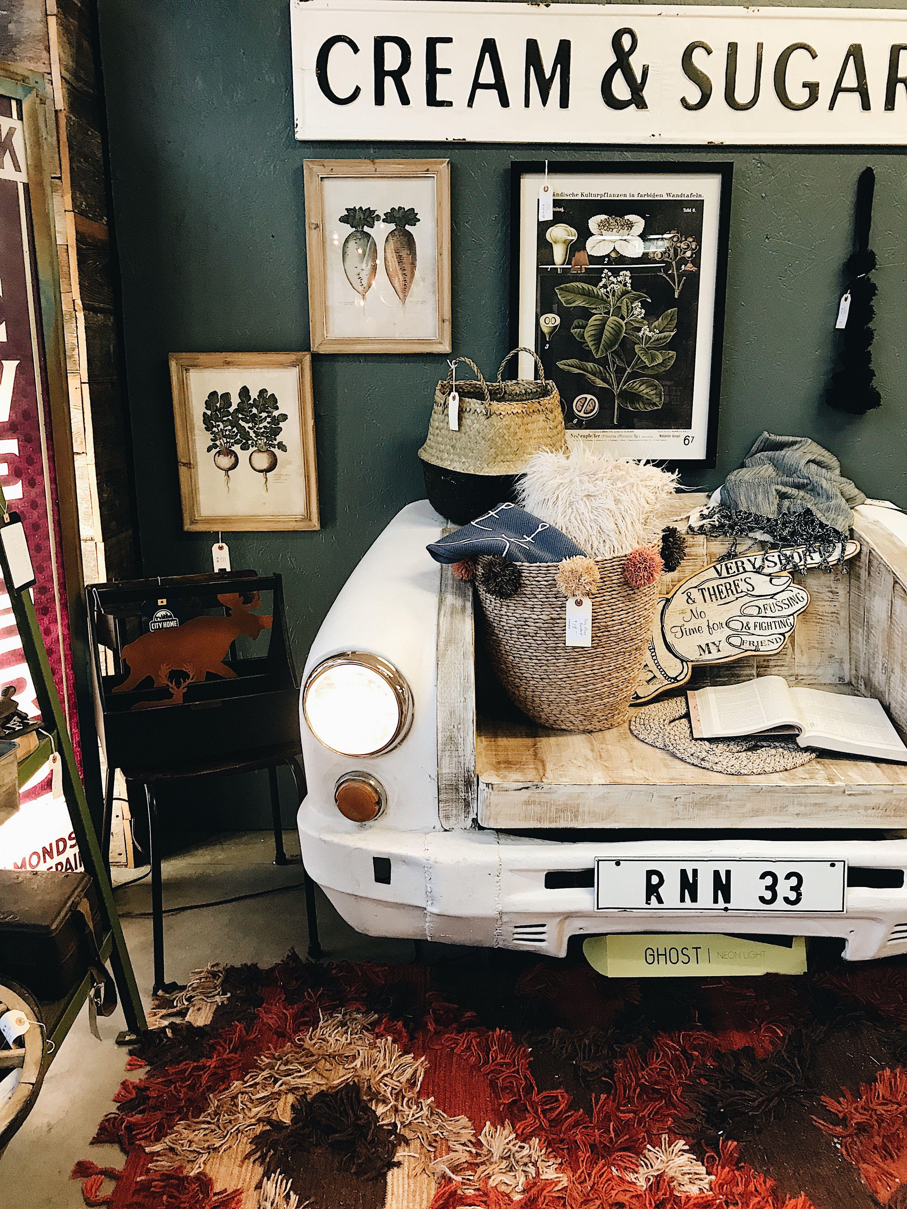 Super cool vintage car turned bench at City Home in Portland, Oregon ...