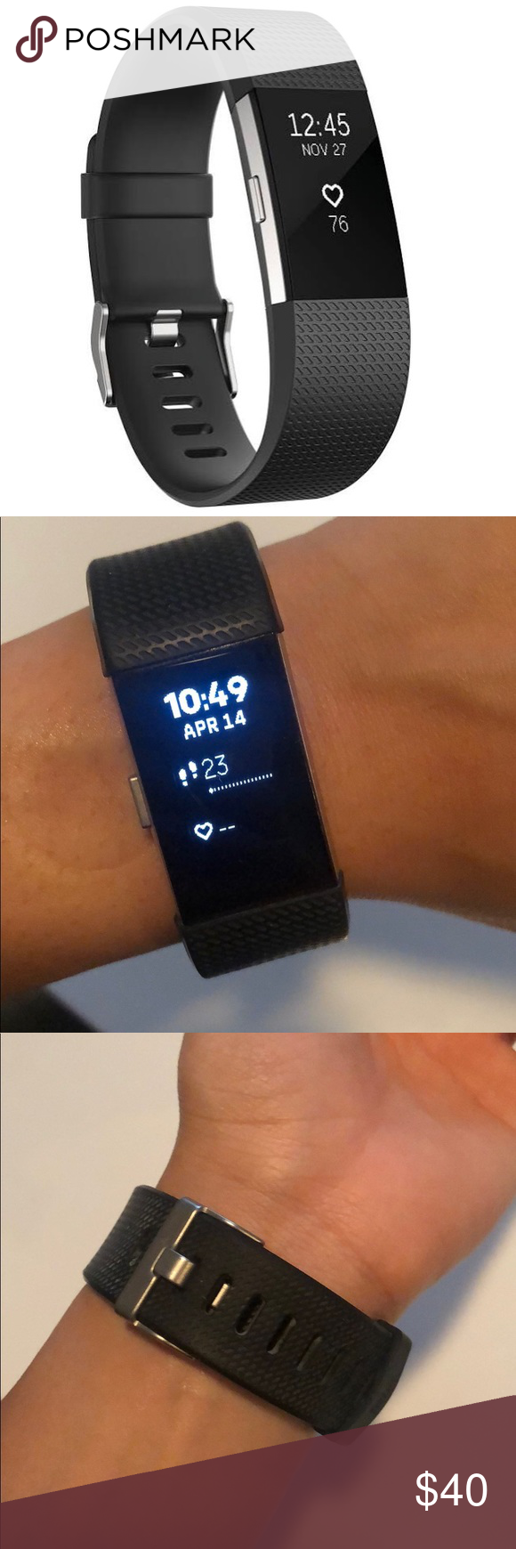 Fitbit Charge 2 with HR Monitor (small), Black Good