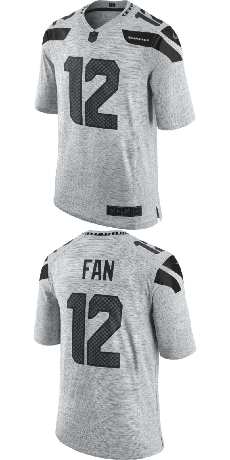 397b42751 UP TO 70% OFF. 12 Fan Seattle Seahawks Nike Gridiron Gray II Limited ...