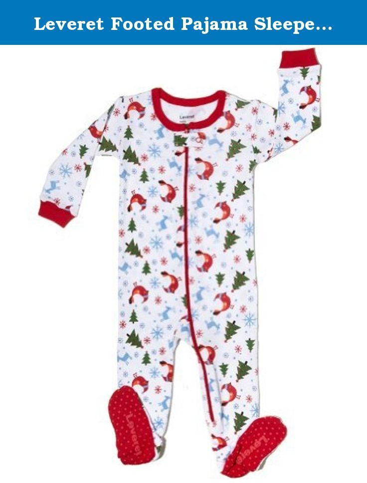 d08227833 Leveret Footed Pajama Sleeper 100% Cotton (Size 6M-5T) Chr ...