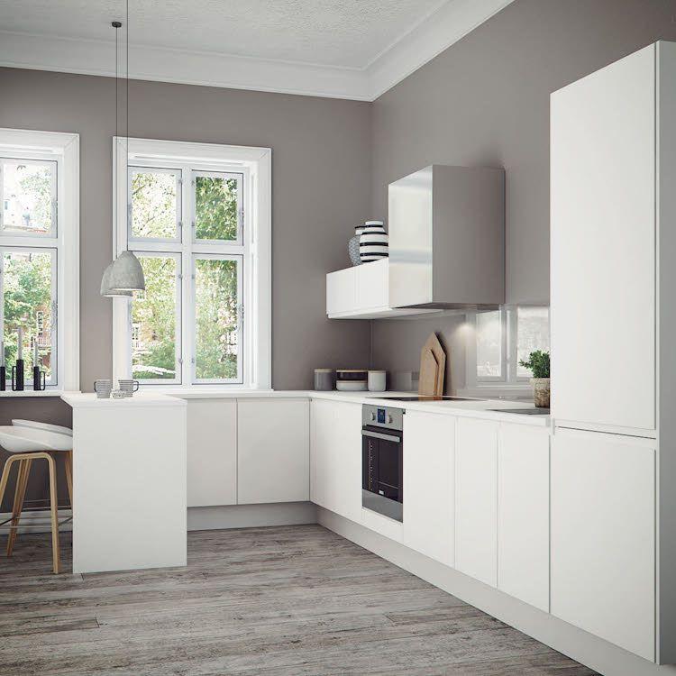 Comment concevoir l lot cuisine id es et conseils d - Petite cuisine blanche ...