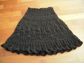 Black crochet skirt | The yarn is Opal of Langyarns. It is v… | Flickr